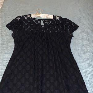 Black Mesh Polka Dot Dress